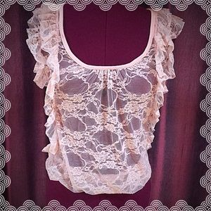 ❤️❤️ 5 for $25 Sale! Lace sheer top
